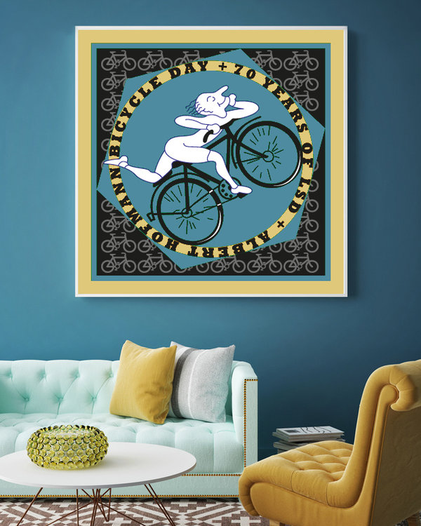 BICYCLE DAY 70TH  100cm x 100cm